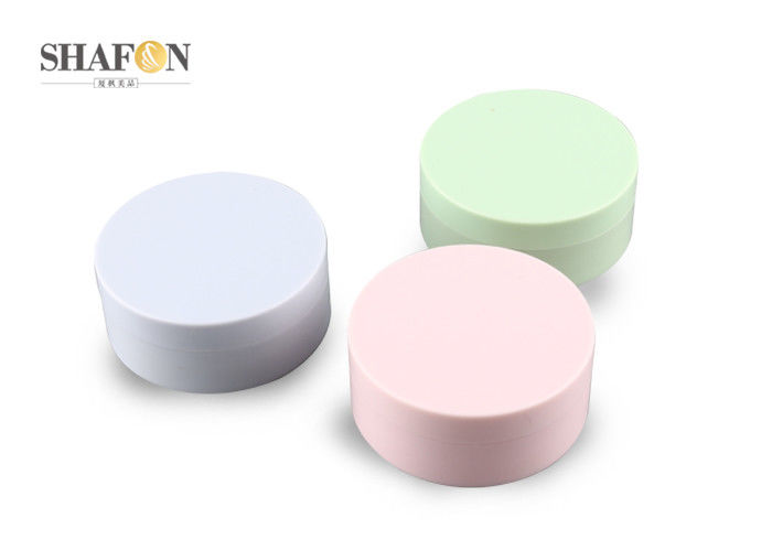 Green Color Empty Compact Cases Plastic Material For Make Up Powder 5G