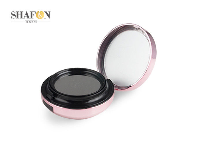 Empty ABS Makeup Powder Compact , Pink Bb Cream Compact 15g Round Shape