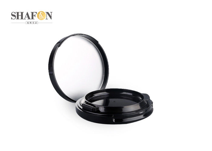Black ABS Empty Cushion Foundation Case , Refillable Cosmetic Compact Packaging