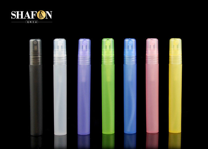 Cylindrical Colorful Small Perfume Bottles Pen 10ml With Lid Silk Screen Printing