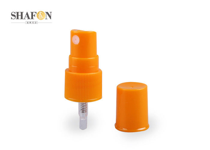 Orange PP Material Cosmetic Mist Sprayers , Inner Spring Pump Mister Sprayer