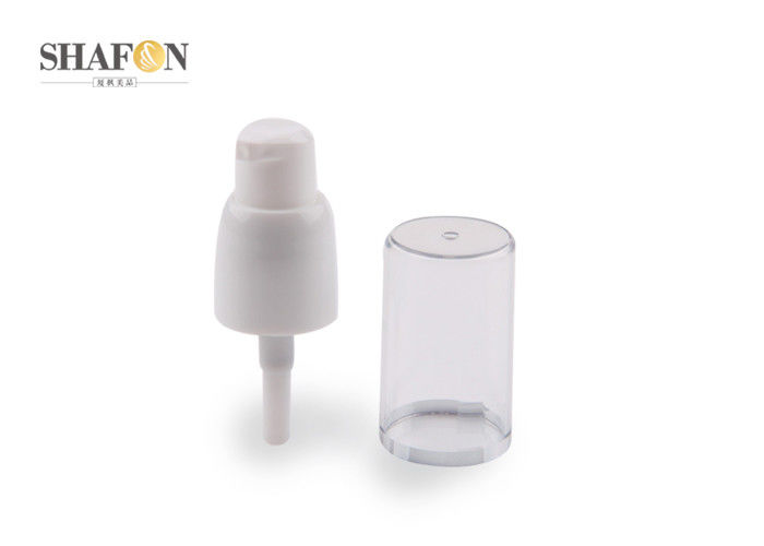 Recyclable Plastic Cosmetic Treatment Pumps Full Cover Design 18 / 410 Customized