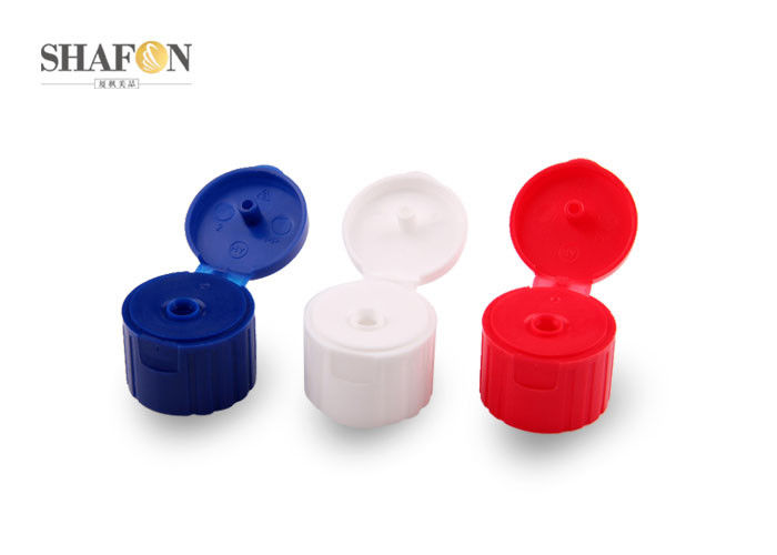 PP Plastic Round Flip Top Bottle Caps , Flip Top Closures Flip Top Closures
