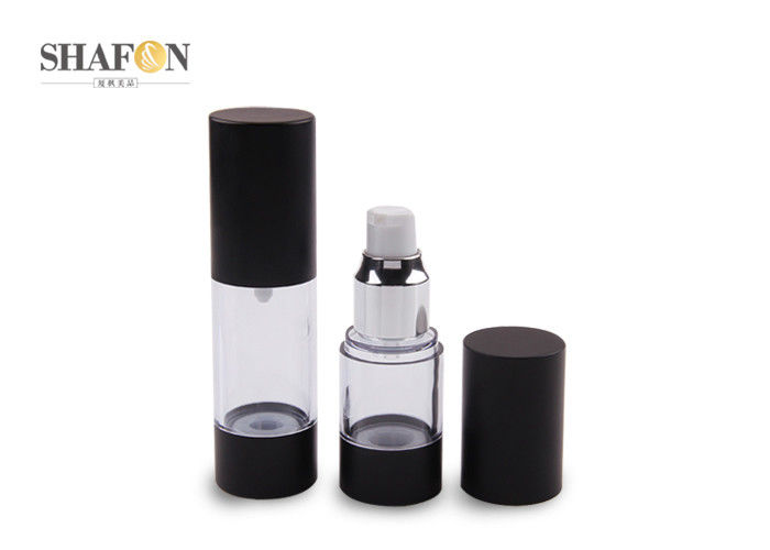 Cosmetic Cylinder Airless Spray Bottle 30ml Black Color UV Painting OEM
