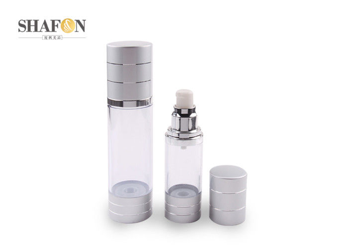 Refillable Makeup Pump Bottle , Airless Dispenser Bottles For Skin Care Lotion
