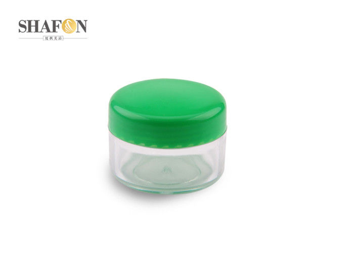 Plastic 5 Gram Cosmetic Jars , Cosmetic Jar Containers Various Colors