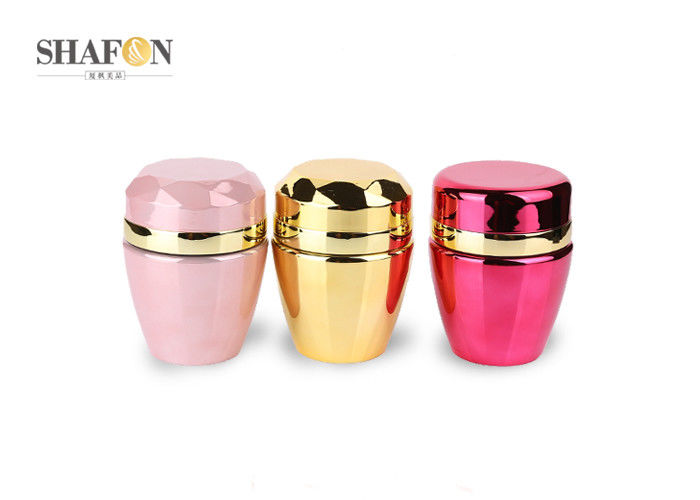 PMMA Material Empty Cosmetic Jars Containers For Face Cream Multi Colors